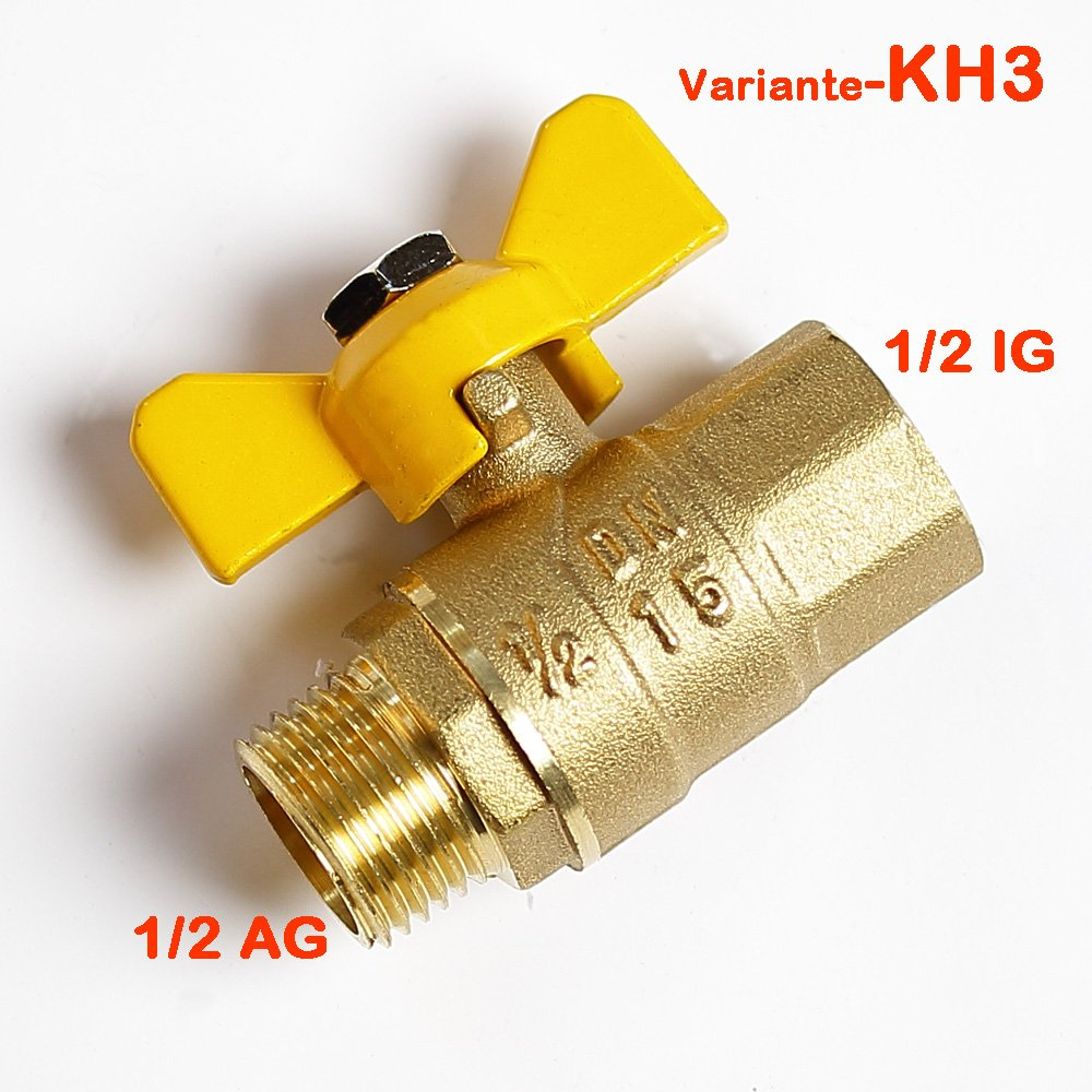 Blank Poign/ée robinet avec ailes en diff/érentes variantes 1//2/3//4/en laiton filetage femelle Ag KH01 3//4 AG auf 3//4 IG