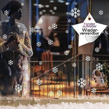 60 Stk Schneeflocken Und Sterne Selbstklebend Fensterschmuck