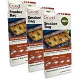Smoker Bags - Set of 3 Alder Smoking Bags for Indoor or Outdoor Use - Easily Infuse Natural Wood Flavor