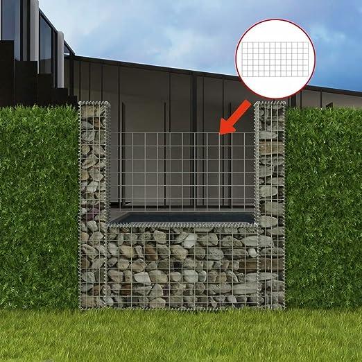 tiauant Bricolaje Vallas de jardín Paneles de Vallas Cesta en Forma de U para Muro de gaviones 160x20x150 cm vallasDiametro del Alambre: 4 mm: Amazon.es: Jardín