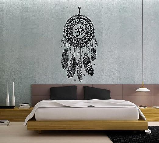 Wandtattoo Traumfänger Federn Hindu Vogel Om Yoga Sticker Vinyl Wall Decor  Fototapete Vinyl Schlafzimmer Wandtattoo Dekoration für Zuhause ...