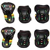 SFR Essentials Triple Pad Set Wrist, Elbow and Knee Unisex Adult, Unisex adult