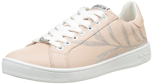 Pepe Jeans London Brompton Embroidery, Zapatillas para Mujer: Amazon.es: Zapatos y complementos