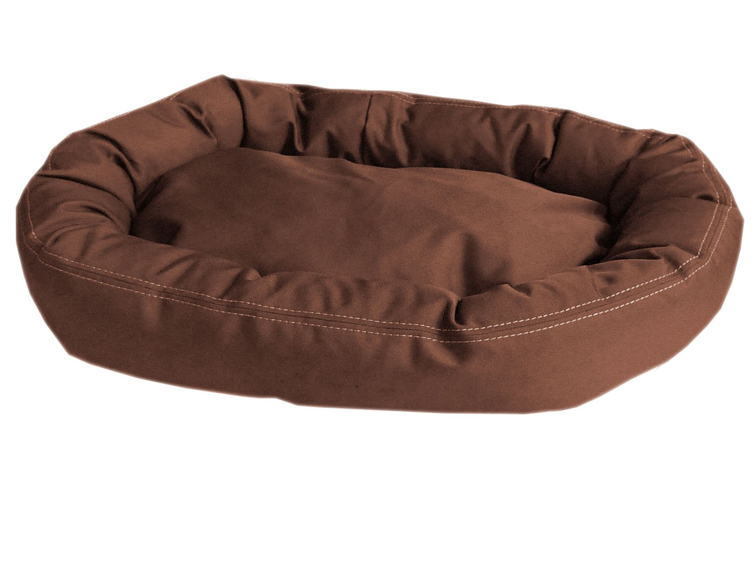 Brown 36'l x 42'w x 6'h Brown 36'l x 42'w x 6'h CPC Brutus Tuff Comfy Cup Pet Bed, 42-Inch, Chocolate