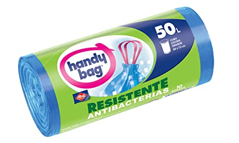 Albal Handy Bag Bolsa Basura con Autocierre, 50 l - 10 ...