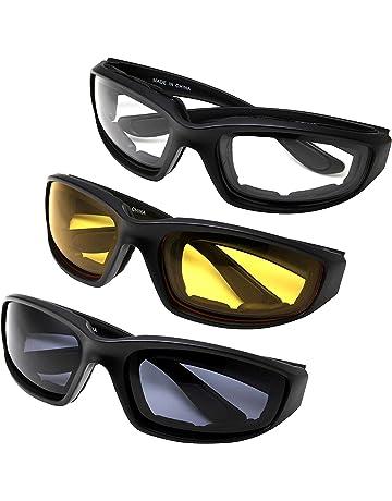 Yooyee Lunettes de Moto, 3 Pcs Toutes les Lunettes de Moto Protection Moto  pour l f997e2685845