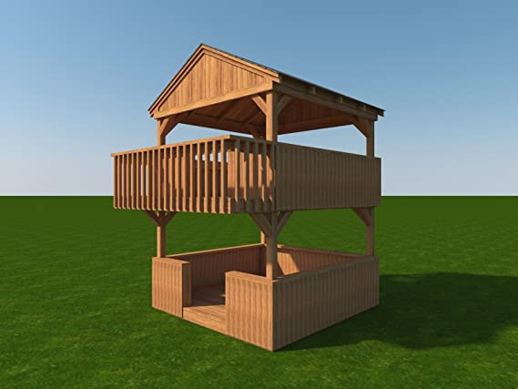 Playhouse Fort Planes DIY 2 Historia patio patio Juguetes para ...
