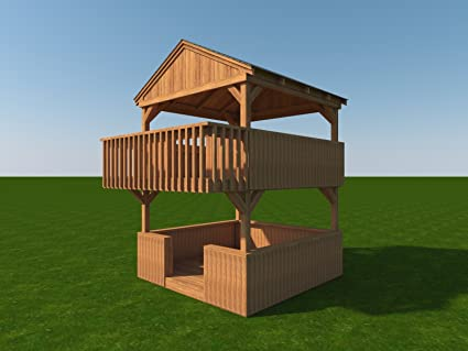 Diy plans build your own 2 story playhouse fort fun to build cubby