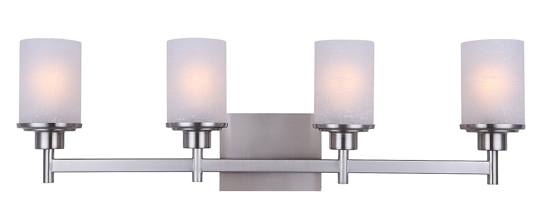 Canarm IVL408A04BN Lyndi 4 Light Bath Vanity, Brushed Nickel   Vanity  Lighting Fixtures   Amazon.com