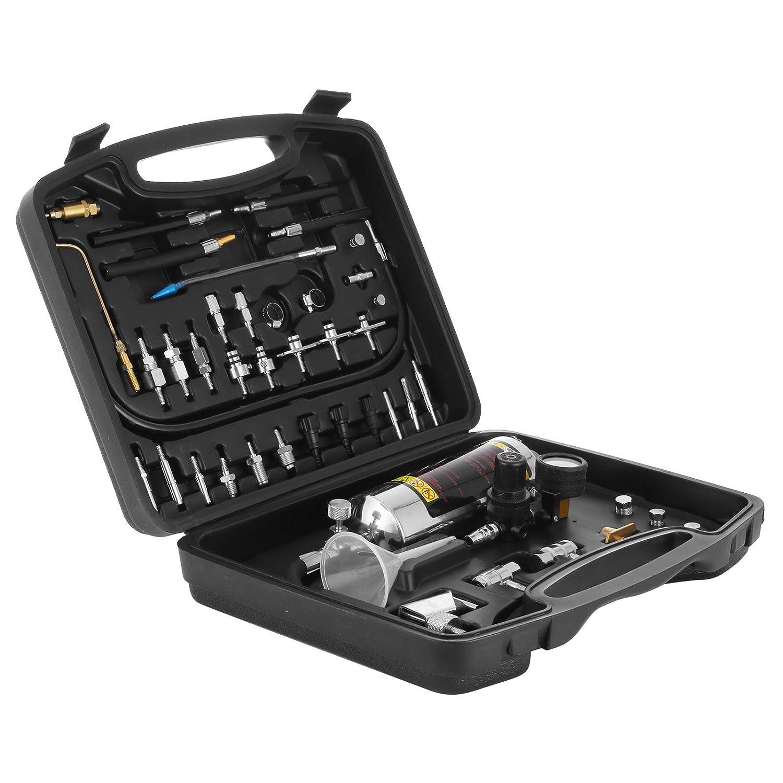 BananaB Automotive Non-dismantle Fuel Injector Cleaner Kit und Tester Kraftstoffsystem Einspritzdüsenreiniger Werkzeugsatz für Benzin EFI Drosselklappe (Non-dismantle)