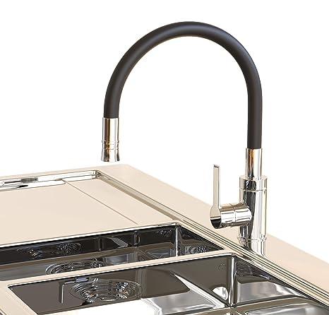 Hohe Rote Designer Küchenarmatur Wasserhahn mit flexibler Geschirrbrause