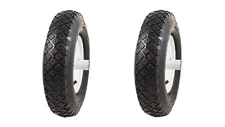 Marathon 4.80 4.00-8 Pneumatic Air Filled Tire on Wheel, 6 Hub, 5 8 Bearings, Knobby Tread Pack of 2