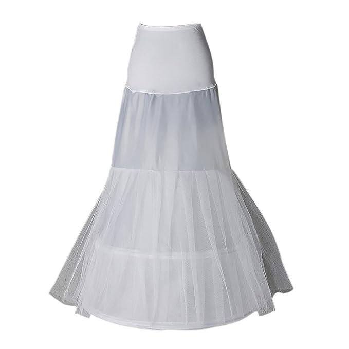 Enagua miriñaque blanca de cóctel sirena para novia guardainfante de novia enagua  falda paseo nupcial crinolina e1bb1529c901
