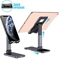 DEAMOS [2020 Upgraded] Cell Phone Stand, Multi-Angle Adjustable Desk Cell Phone Holder Mount Compatible with All Smartphones, iPad