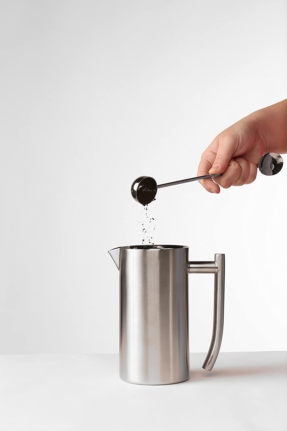 Silver Frieling USA 130 Double Wall Stainless Steel French Press Coffee Maker 44 oz