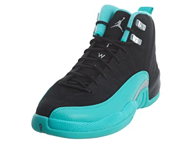 the best attitude 54839 2144f Jordan Retro 12 quot Hyper Jade Black Metallic Silver-Hyper Jade (Big Kid