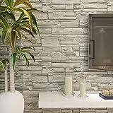 HANMERO® Murales de pared papel pintado imitación ladrillo piedras papel de pared dormitorios/salón/hotel/ fondo de TV /color color gris,0.53M*10M