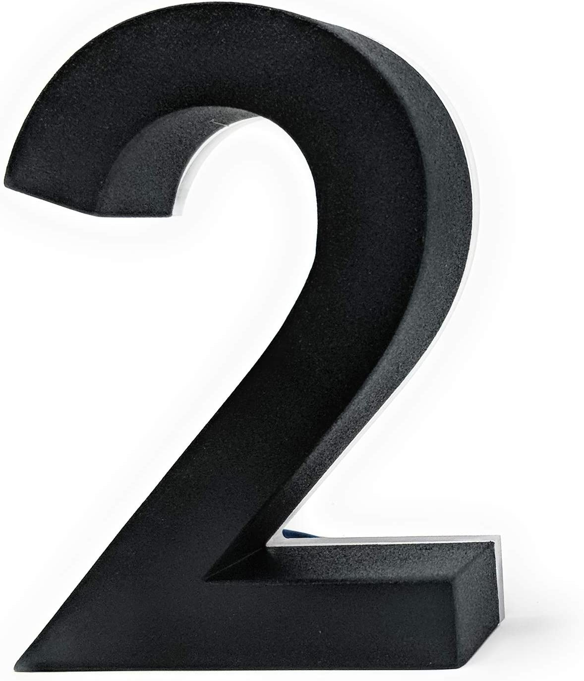 4 Inch House Numbers LED, Modern Address Signs for Homes | by JELSCO (2, Neutra Black)