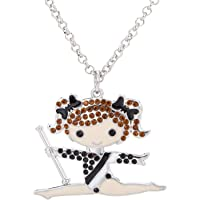 Lovely Gymnastics Girl Pendant Necklace for Girl Women Gifts Jewelry