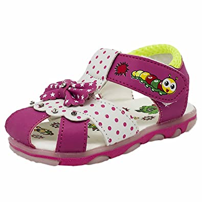 Yellow Bee Baby Girls Pink Pu Fashion Sandals 4c Buy Online At