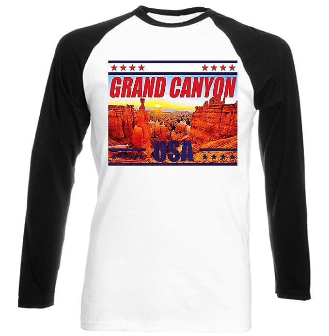 teesquare1st Grand Canyon USA Camiseta DE Mangas Negra LARGAS T-Shirt Size Small: Amazon.es: Ropa y accesorios