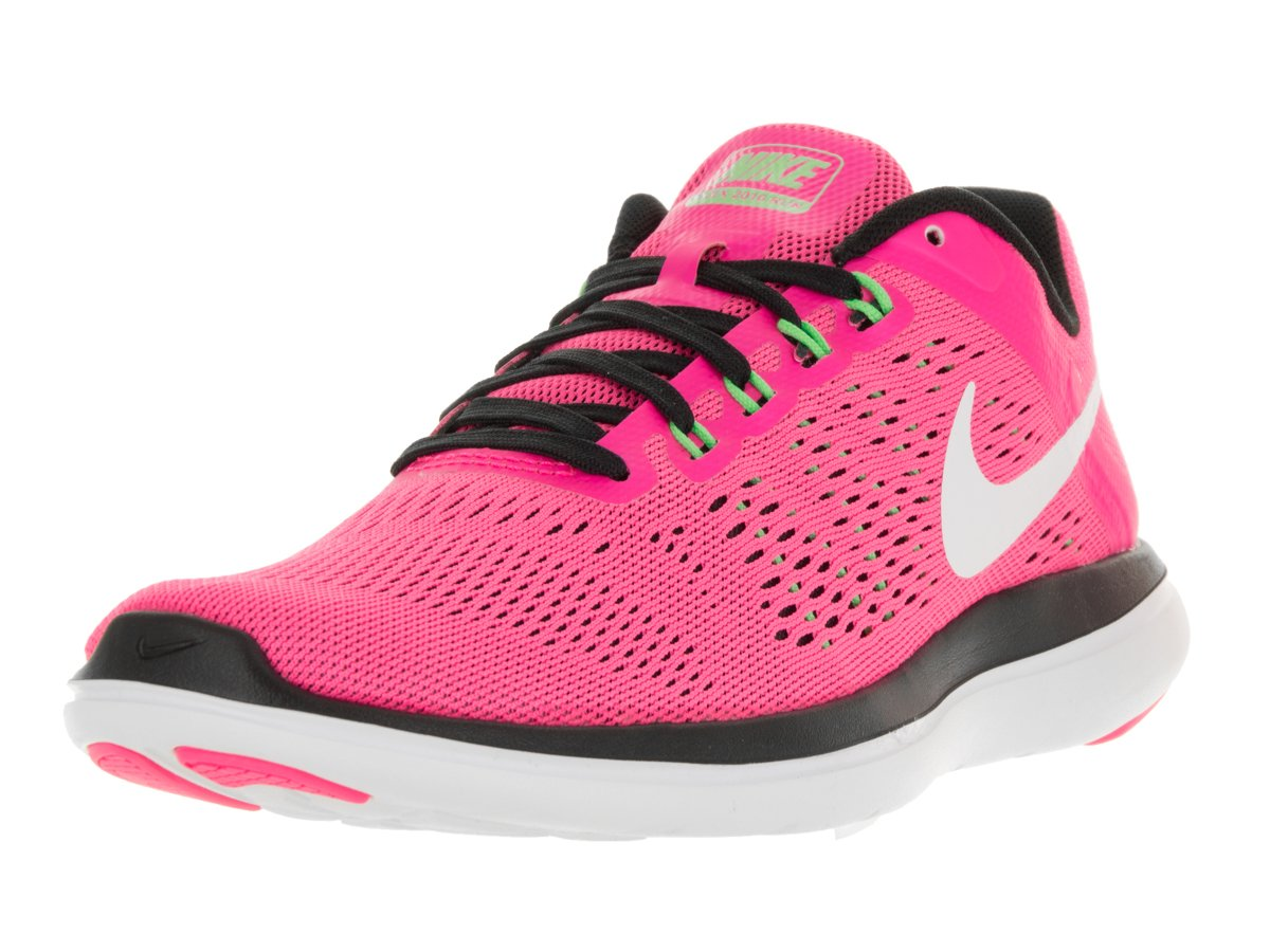 NIKE Women's Flex 2016 Rn Running Shoes B078MN6PQK 6 B(M) US|Pink Blast/Black/Electric Green/White