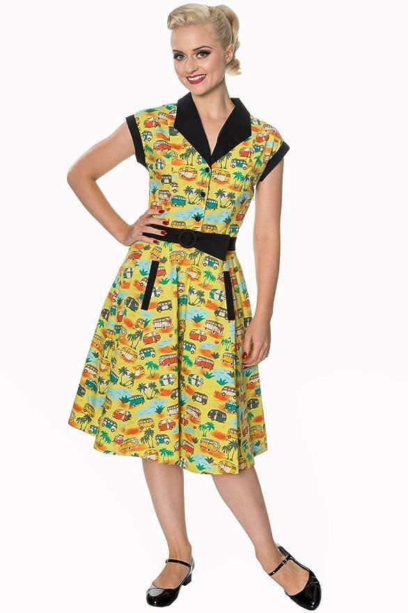 1950s Swing Dresses | 50s Swing Dress Camper Dress - Banned Apparel - Starlight Dress $39.95 AT vintagedancer.com