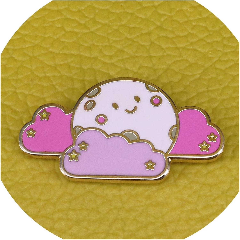 Super-fantastic-store Cute Cloud Enamel pin Happy Sun and Stars Brooch Cartoon Pastel Badges Weather pins