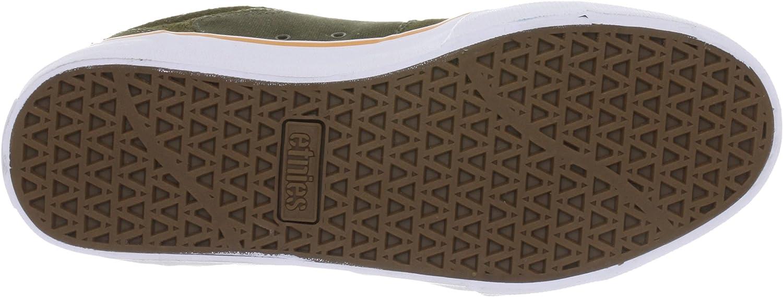 Etnies Barge LS Skate Shoe Olive/Orange