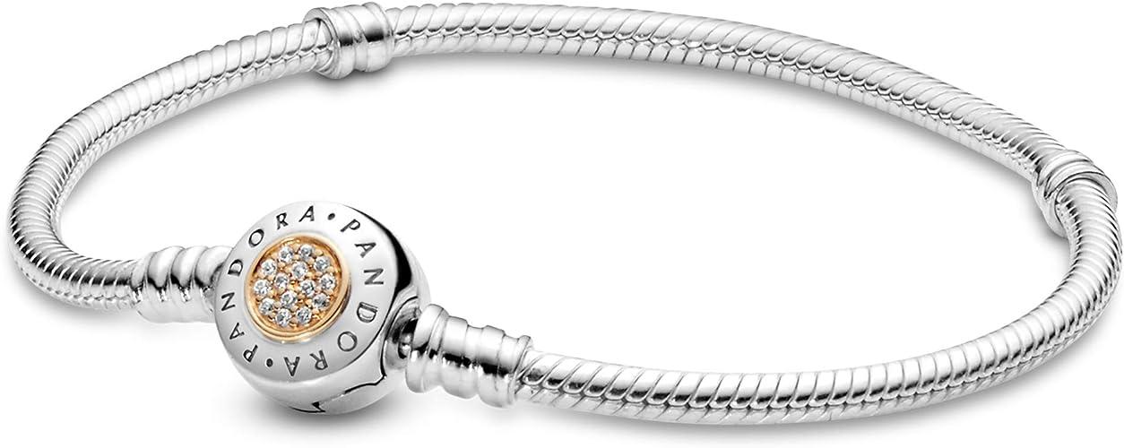 Bracelet Pandora Moments 590741cz 17 Women Two Tone Amazon Co Uk Jewellery