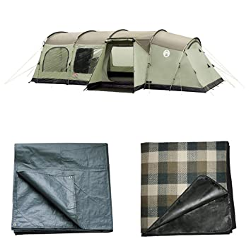 Coleman Mackenzie Cabin 6 Berth XL Tent Pack With Carpet And Footprint  sc 1 st  Amazon UK & Coleman Mackenzie Cabin 6 Berth XL Tent Pack With Carpet And ...