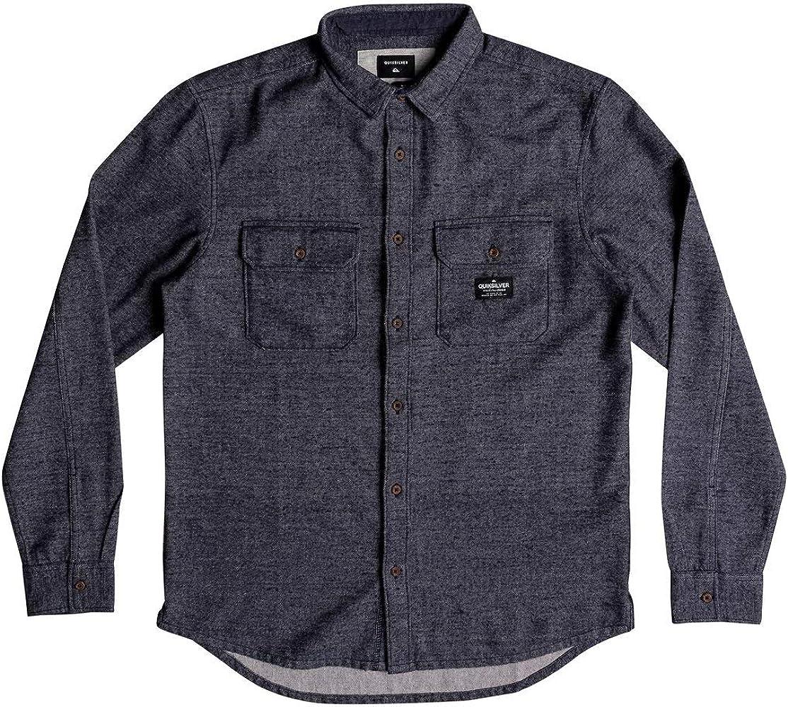 Quiksilver - Camisa de Manga Larga - Hombre - M - Azul: Amazon.es: Ropa y accesorios