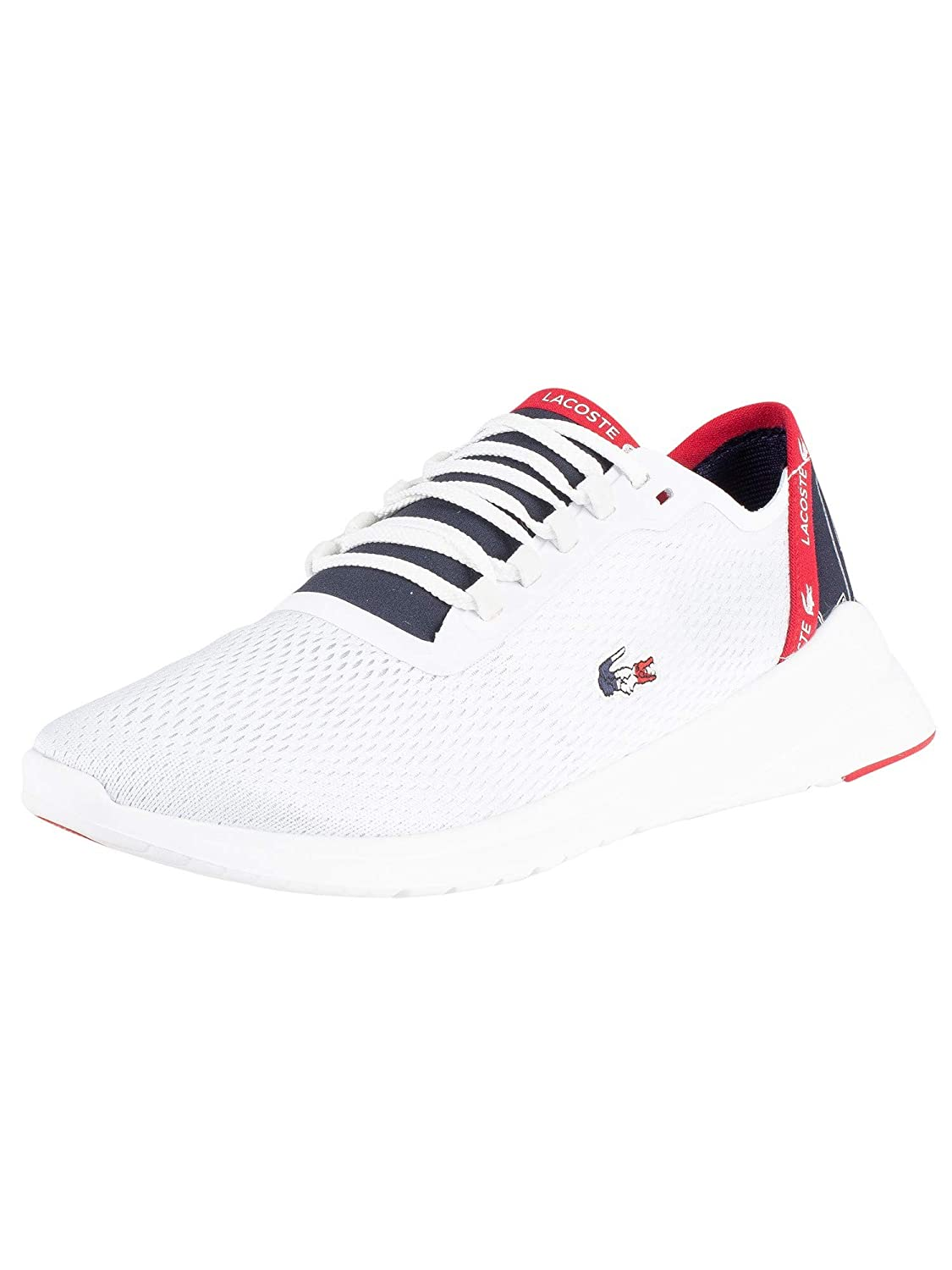 f3d2b670104aa Amazon.com: Lacoste Men's LT Fit 119 5 SMA Trainers, White: Clothing
