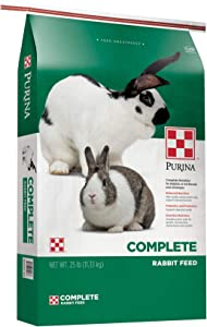 Purina Rabbit Food Complete Pellets, 25 lb