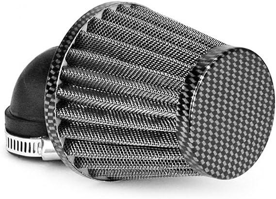 Luftfilter Tnt Stahlgewebe Carbon Look Gewinkelt 90 Grad Anschluss 28 35mm Auto