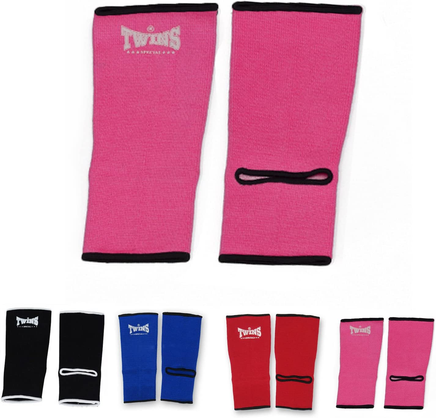 Pink Boxing Size M Twins Special Ankle Guard Support Protector AG Color Black Kickboxing L for Protection in Muay Thai Blue Red MMA