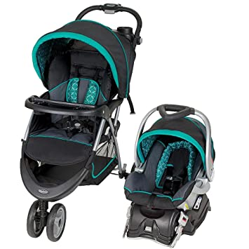 Lightweight Baby Trend EZ Ride Car Seat Jogging Stroller Mosaic Pattern