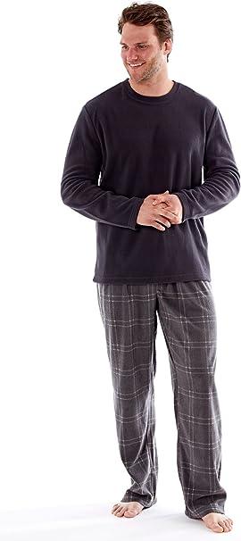 XL y XXL Pijama de Manga Larga L Pijama Largo para Hombre Pijama para casa Tallas M