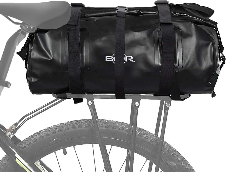 BTR Bolsa Impermeable para Bici diseñada para el portaequipajes Trasero de la Bicicleta