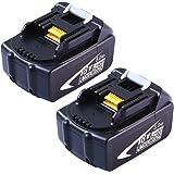 マキタ BL1850互換 18V 5.0Ah 5000mAh リチウムイオンBL1830 BL1840 BL1860 BFR550L TW251Dなど対応互換バッテリー 2個セット 高品質 安心の1年保証