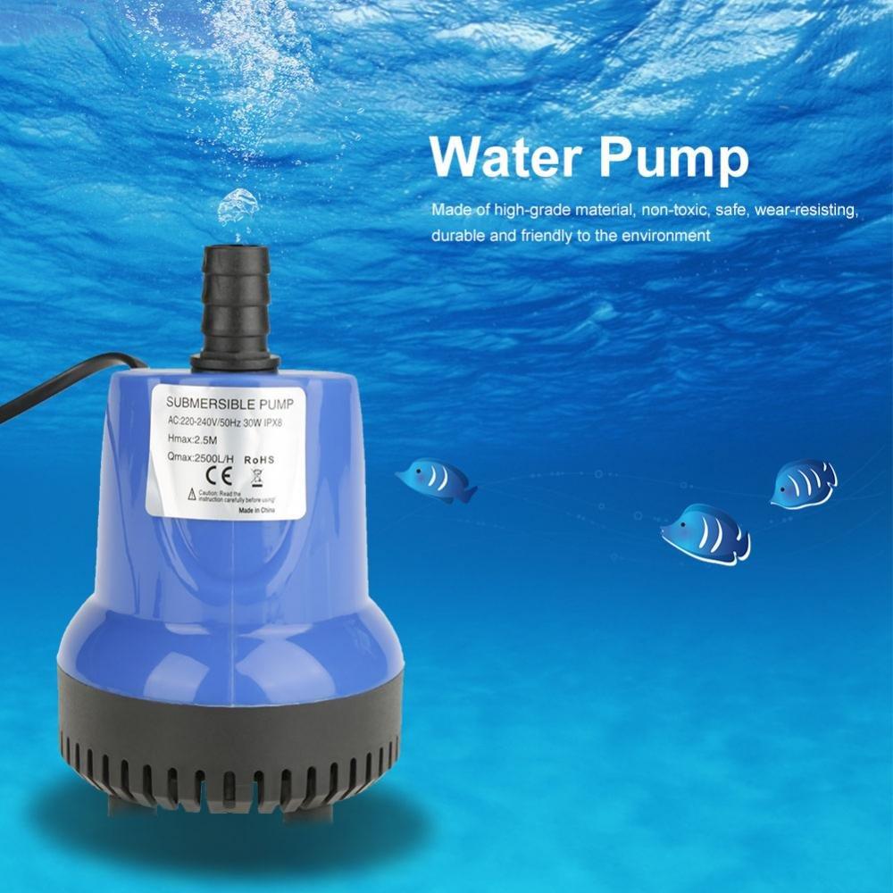 SM/—1800L Fdit Pompe Submersible /à Eau R/éservoir dAquarium Ultra-Silencieux Fontaine d/étang pour Poissons
