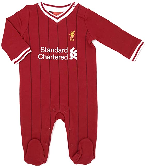 9076e9dbda47c Liverpool FC Nueva Temporada 2017 18 Bebé Fútbol Pijama LFC Bebés Pelele  Pelele Mono ( Comprar Más info