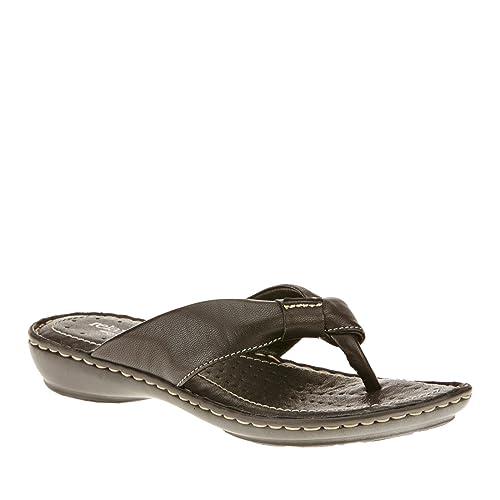 ee9e0f128d0 Amazon.com   Relaxshoe Capri Thong Sandals, Nero, 40 M/B   Flats