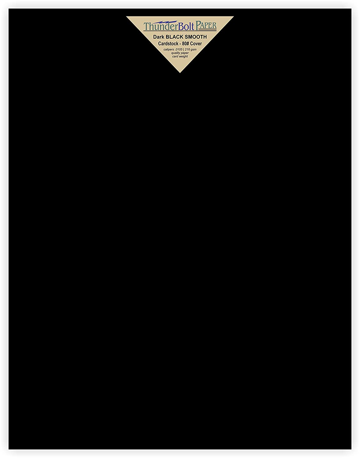 15 Dark Black Smooth Card/Cover Sheets - 11 X 14 (11X14 Inches) Scrapbook|Picture-Frame Size - 80# (80 lb/pound) - Cover Weight Fine Paper for Quality Results on a Smooth Finish TBP 4336868683
