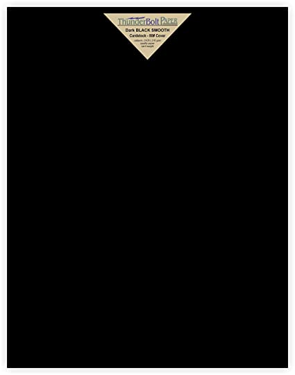 Amazon.com : 15 Dark Black Smooth Card/Cover Sheets - 11\
