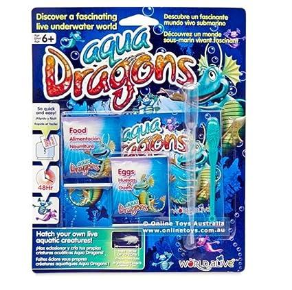 Amazon com: Aqua Dragons Sea Monkeys Food & Eggs Pet Refill