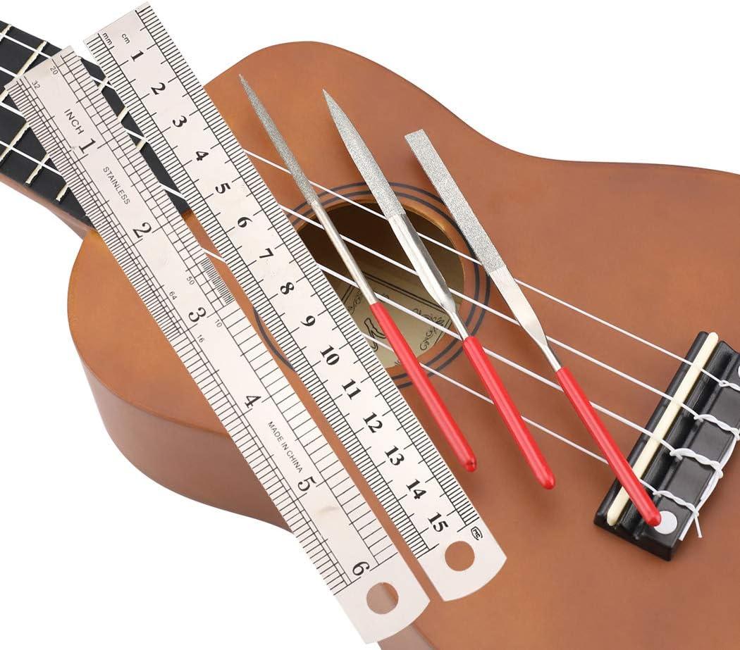 Kit de herramientas de reparación de guitarra, incluye organizador ...