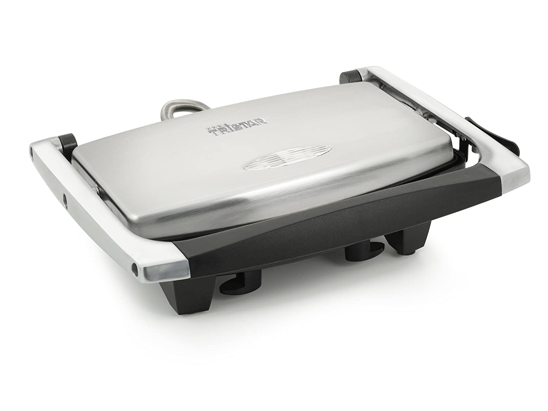 Grill da contatto Tristar GR-2841 – Rivestimento antiaderente – Corpo in acciaio inox bistecchiera; grill; piastra