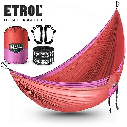 ELLEN Portable Parachute Nylon Fabric Travel Camping Hammock