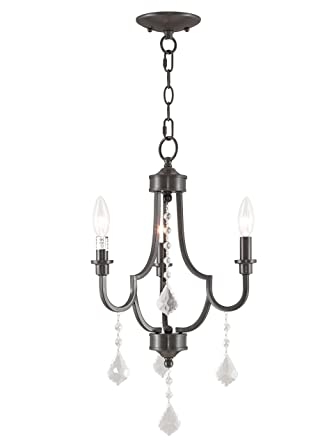 first rate 7a37e 27324 Livex Lighting 40883-92 Glendale 3 Light English Bronze Mini Chandelier
